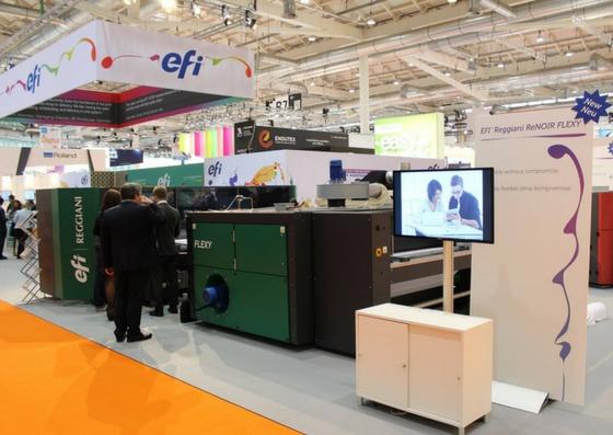 EFI expõe a nova impressora da Linha Reggiani na FESPA 2017