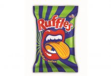 Ruffles muda design das embalagens