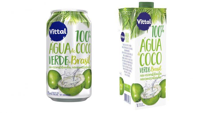 Água de Coco Vittal lança nova embalagem