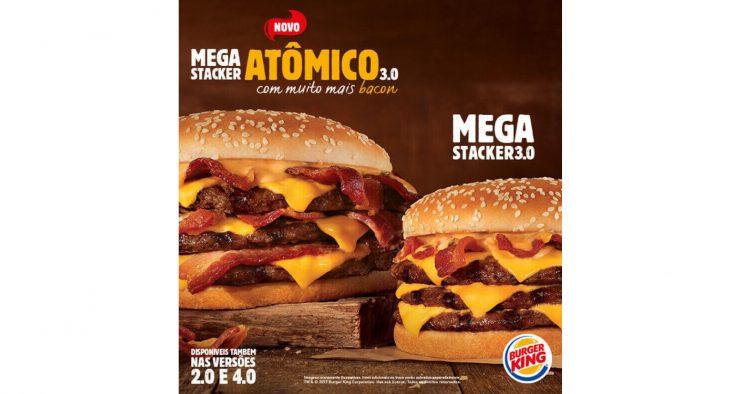 Burger King lança a campanha do Mega Stacker Atômico