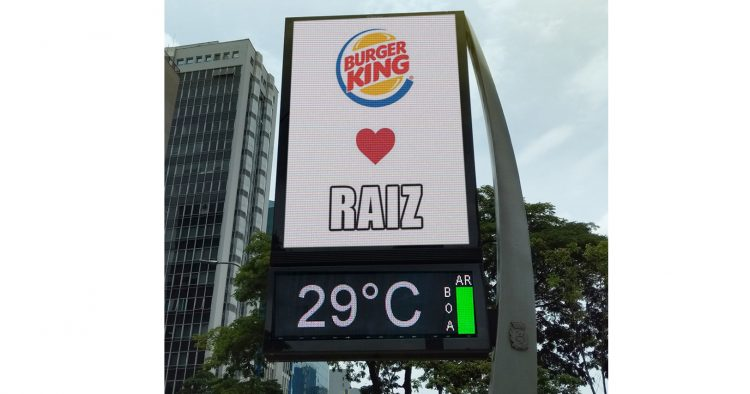 Burger King usa OOH e meme para provocar concorrente, McDonald´s