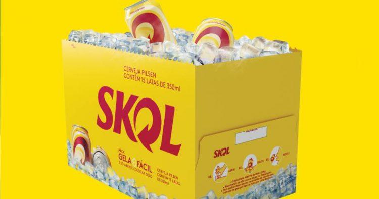 Skol lança embalagem especial que gela a cerveja