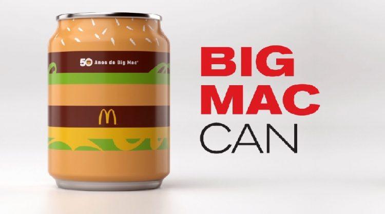 McDonald's celebra 50 anos do Big Mac com latinha personalizada
